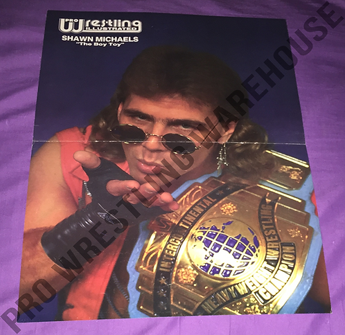 Shawn Michaels Poster with IC Belt - WWF, WWE