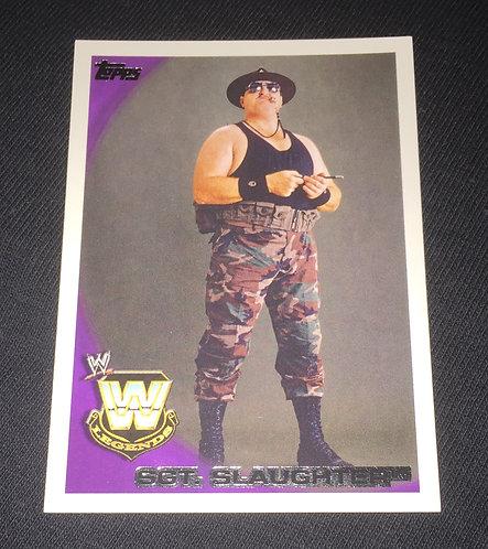 Sgt. Slaughter WWE Legends Wrestling Trading Card
