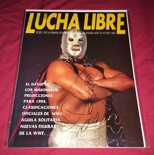 El Hijo Del Santo Autographed Lucha Libre Wrestling Magazine