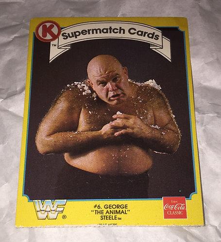 "George ""The Animal"" Steele WWF/WWE Circle K Wrestling Trading Card"