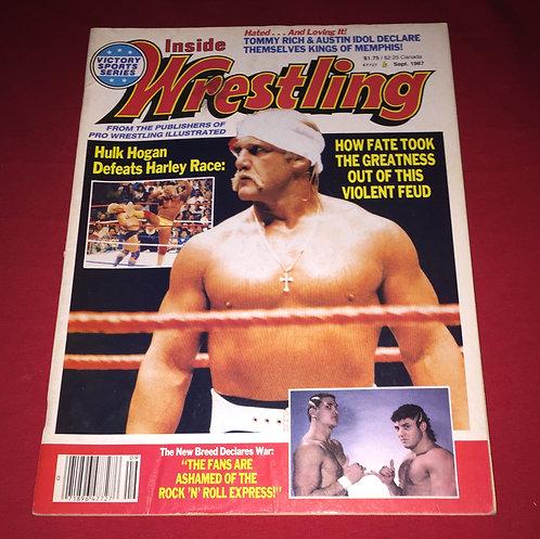Inside Wrestling September 1987 - Hulk Hogan