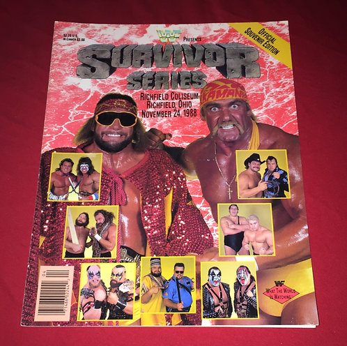 WWF/WWE Survivor Series Program, November 24th, 1988