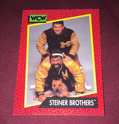 The Steiner Brothers Rick & Scott WCW Wrestling Trading Card