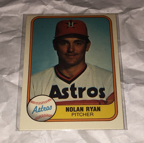 Nolan Ryan Houston Astros 1981 Fleer Baseball Trading Card MLB