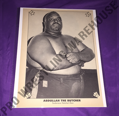 Abdullah The Butcher Vintage Wrestling Pin-Up