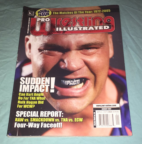 Pro Wrestling Illustrated Double Issue - January 2007 Kurt Angle