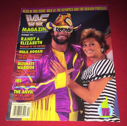 WWF/WWE Magazine October 1991 - Randy Savage & Elizabeth