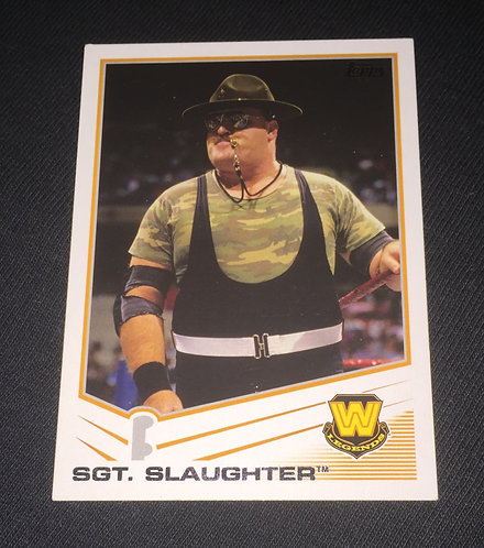 Sgt. Slaughter WWE Legends Wrestling Trading Card