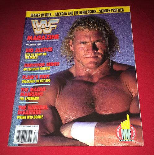 WWF/WWE Magazine December 1991 - Sid Justice
