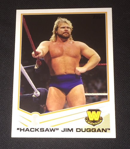 """Hacksaw"" Jim Duggan WWE Wrestling Card"
