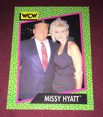 Missy Hyatt & Jim Ross WCW Wrestling Trading Card