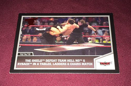 The Shield WWE TLC Wrestling Trading Card