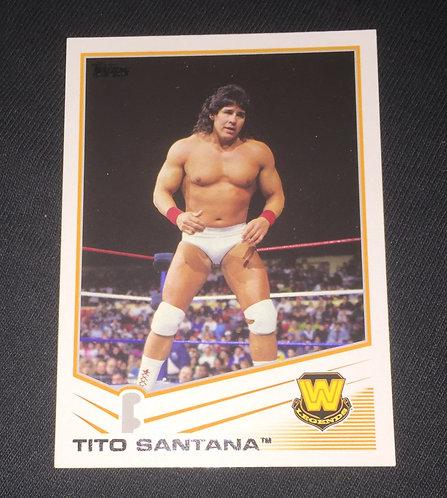 Tito Santana WWE Wrestling Trading Card