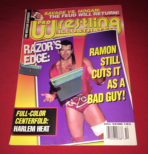 Pro Wrestling Illustrated October 1995 Razor Ramon
