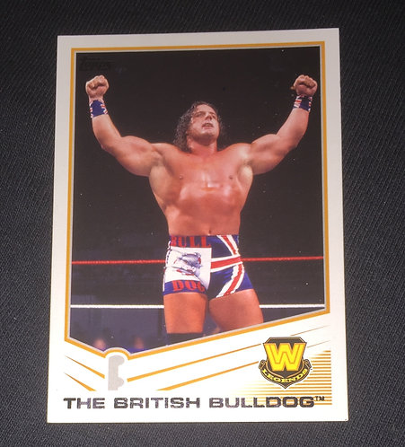 The British Bulldog WWE Wrestling Trading Card