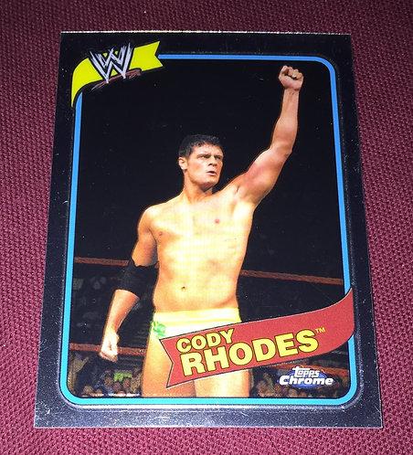 Cody Rhodes WWE Topps Chrome Wrestling Card