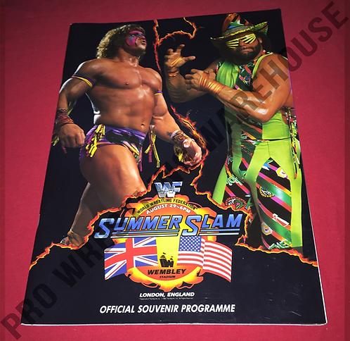 WWF/WWE Summer Slam 1992 Program - Wembley Stadium,Macho Man,Ultimate Warrior