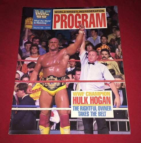 WWF/WWE Wrestling Program #168, Hulk Hogan