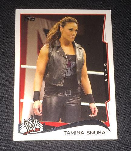 Tamina Snuka WWE Wrestling Trading Card - RAW