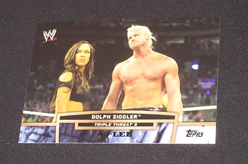 AJ Lee & Dolph Ziggler WWE Wrestling Trading Card