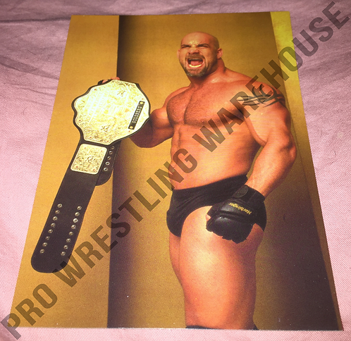 GOLDBERG WCW 4x6 Wrestling Promo Photo - Posed with Belt