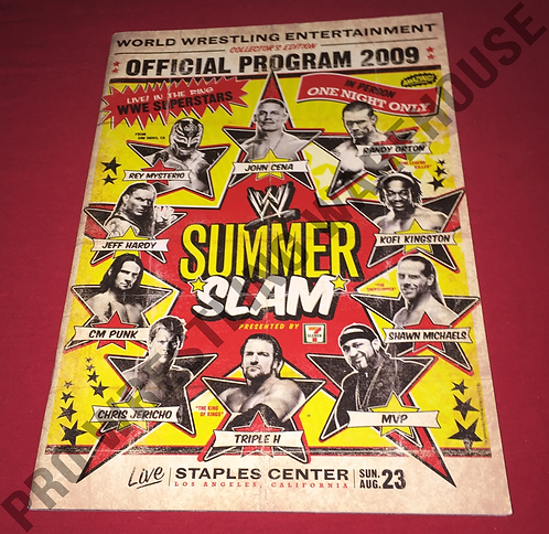 WWE Summer Slam 2009 Official Event Program - Cena,Mysterio,CM Punk,Jeff Hardy