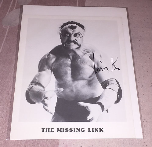 Missing Link Autographed WCCW 8x10 Promo Photo