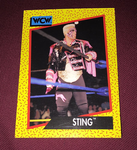 Sting WCW Wrestling Trading Card - With Belt
