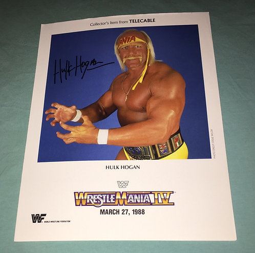 Hulk Hogan WWF/WWE Promo Photo (1988)
