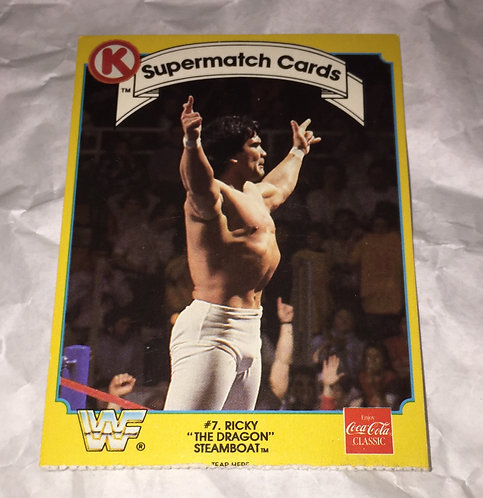 """Ricky """"The Dragon"""" Steamboat WWF/WWE Circle K Wrestling Trading Card"""