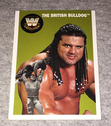 The British Bulldog WWE Legends Wrestling Trading Card