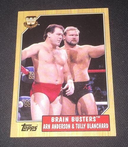 """Brain Busters"" Tully Blanchard & Arn Anderson WWE Legends Wrestling Card"