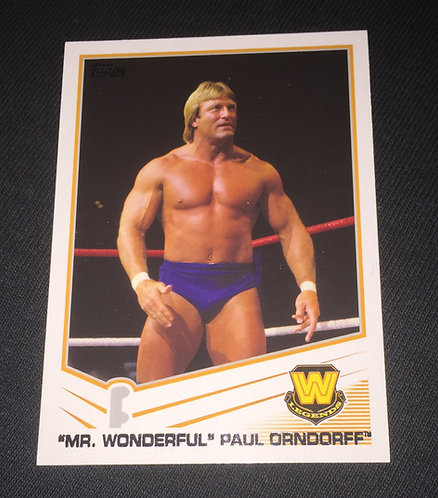 Paul Orndorff WWE Legends Wrestling Trading Card