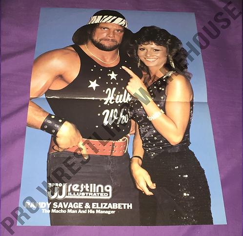 """""""Macho Man"""" Randy Savage & Elizabeth Wrestling Poster - WWF, WWE"""