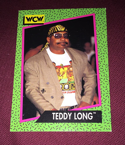 Teddy Long WCW Wrestling Trading Card