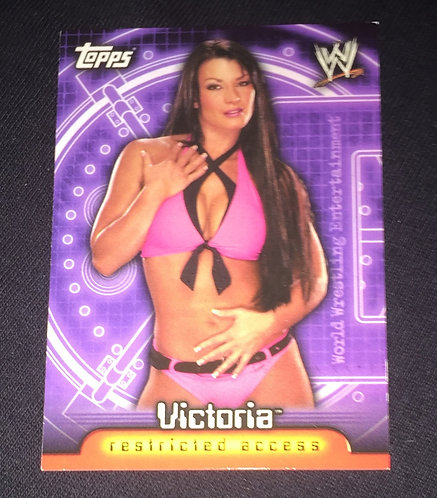 Victoria WWE Wrestling Trading Card