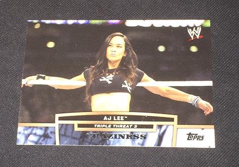 AJ Lee WWE Wrestling Trading Card