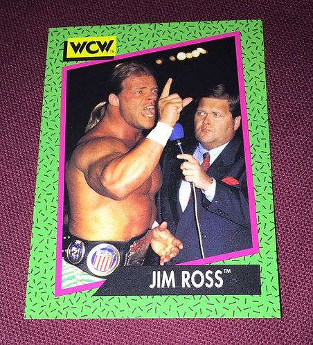 Jim Ross & Lex Luger WCW Wrestling Trading Card
