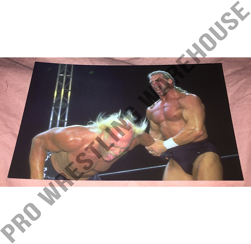 Lex Luger -vs- Hulk Hogan WCW 4x6 Wrestling Promo Photo