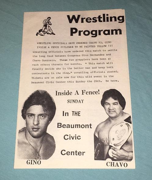Southwest Championship Wrestling Program from 1981.