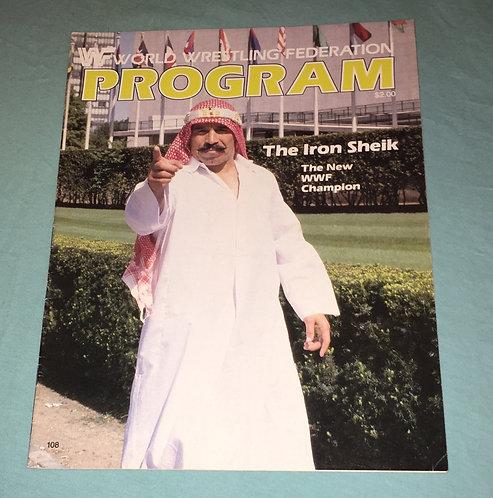 WWF/WWE Wrestling Program #108, Iron Sheik New WWF Champion!