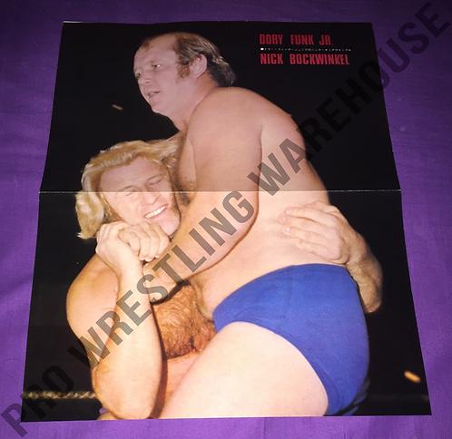 Dory Funk Jr. -vs- Bockwinkel, Willem Ruska, Vintage Poster from Japan, 2 Sided