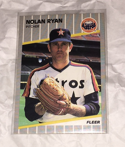 Nolan Ryan Houston Astros - 1989 Fleer Baseball Trading Card MLB