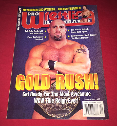 Pro Wrestling Illustrated December 1998 - Goldberg