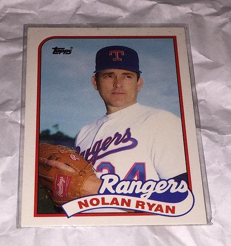 Nolan Ryan Topps - 1989 Texas Rangers Baseball Trading Card MLB