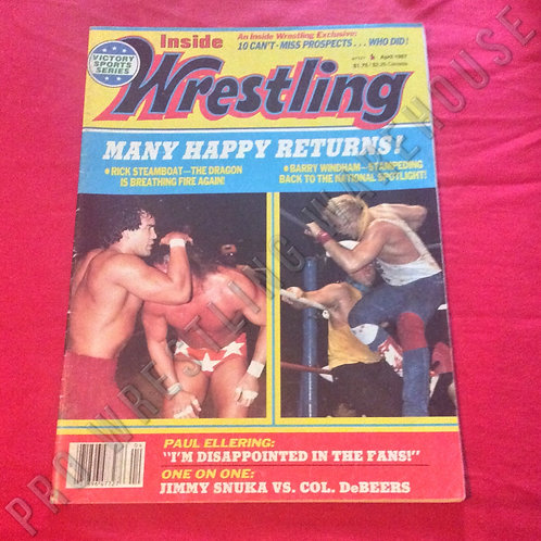 Inside Wrestling - April 1987