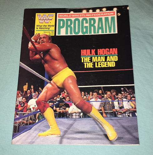 WWF/WWE Wrestling Program, #182, Hulk Hogan.