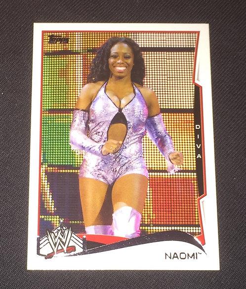 Naomi WWE Wrestling Trading Card
