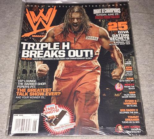 WWE Magazine June 2008 - Triple H (HHH)