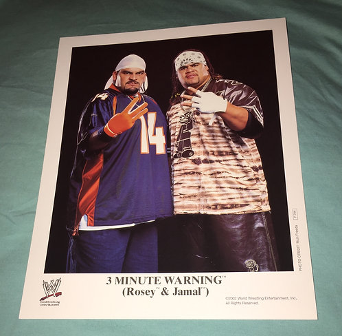 """3 Minute Warning"" Rosey & Jamal WWF/WWE Promo Photo P-796 (2002)"
